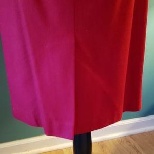 Le Suit Jackets & Coats - Le Suit Red Double Breasted Skirt Suit Size 6